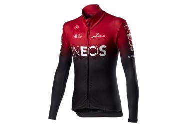 Maglia manica lunga Castelli Thermal Team Ineos 2020 Rosso scuro Nero