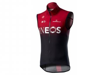 Veste Coupe-Vent Sans Manches Castelli Pro Light Wind Team Ineos 2020 Rouge Bordeaux Noir