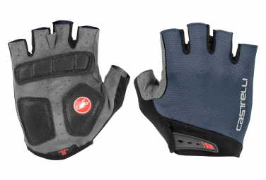 Castelli Entrata Short Gloves Dark Steel Blue