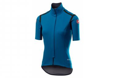 Castelli Gabba Ros W Women Short Sleeve Windbreaker Jacket Blue L