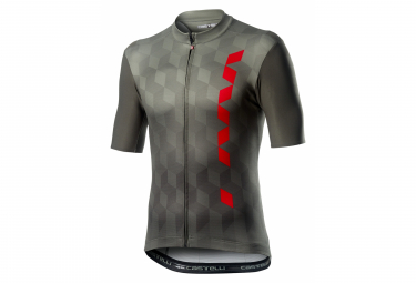 Maillot Manches Courtes Castelli Fuori Gris Forest