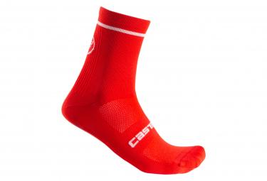 Calcetines Castelli Entrata 9 Rojo 44 47