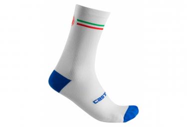 Castelli Italia 15 Par De Calcetines Blanco 44 47