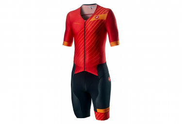 Castelli Free Sanremo 2 Tri Suit Fiery Red
