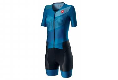 Castelli Free Sanremo 2 W Damen Tri Suit Multicolor Marine Blue