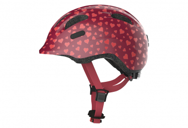 Abus Smiley 2.0 Child Helmet Pink Heart Pattern