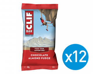 12 Barres énergétiques CLIF BAR Chocolat Amande 68g
