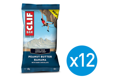12 Barres Énergétiques CLIF BAR Banane Beurre de Cacahuète 68g