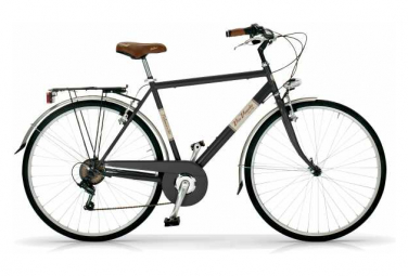 Vélo de ville VIA VENETO ALLURE 28  6V. HOMME noir mat
