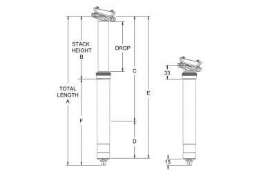 One Up Dropper Post V2 150 mm T-Sattelstütze (ohne Bestellung)