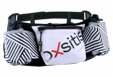 Oxsitis Flaskbelt Race Hydration Belt White