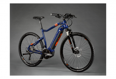 VTC Électrique Haibike SDuro Cross 5.0 Shimano Deore XT 10V 500 Bleu / Orange 2020