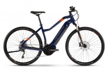 Haibike SDuro Cross 5.0 Damen Hybrid Tourenrad Shimano Deore / XT 10S 500 Wh 700 mm Blau Orange 2020