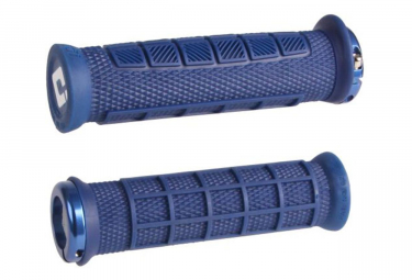 Poignées ODI Elite Pro Lock On 130mm Bleu
