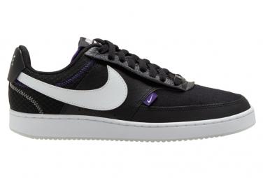 Nike Sportswear Court Vision Low Premium Shoe Black / White / Purple