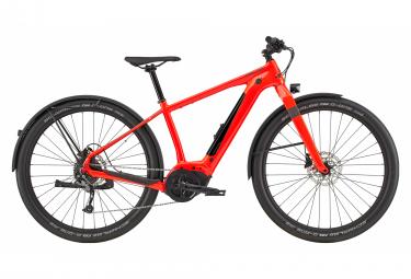 Vélo de Ville Électrique Cannondale Canvas NEO 2 Shimano Acera 9V 500 Rouge 2020