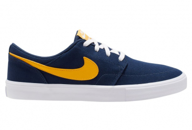 Nike SB Solarsoft Portmore II Blue / Yellow Shoes | Alltricks.com