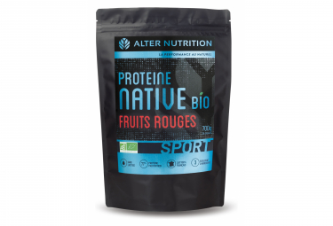 Image of Boisson proteinee alter nutrition native bio sport fruits rouges 700g