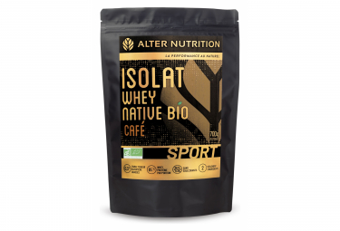 Boisson Protéinée Alter Nutrition Isolat Whey Native Bio Sport Café 700g