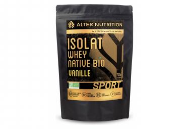 Image of Boisson proteinee alter nutrition isolat whey native bio sport vanille 700g