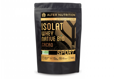 Image of Boisson proteinee alter nutrition isolat whey native bio sport cacao 700g