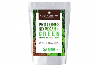 Image of Boisson proteinee alter nutrition mix vegan bio green spirituline chorelle menthe 500g