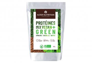 Boisson Protéinée Alter Nutrition Mix Vegan+ Bio / Green / Spirituline Chorelle Menthe / 500g