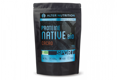 Image of Boisson proteinee alter nutrition native bio sport cacao 700g