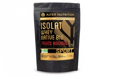 Image of Boisson proteinee alter nutrition isolat whey native bio sport fruits rouges 700g