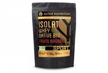 Boisson Protéinée Alter Nutrition Isolat Whey Native Bio Sport Fruits Rouges 700g