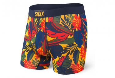 Boxer Saxx Vibe Jungle Jaune Bleu