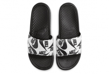 Claquettes Nike Benassi Just Do It Noir / Blanc