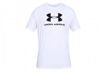 Camiseta Under Armour Sporstyle Logo Manga Corta Blanco Hombre L