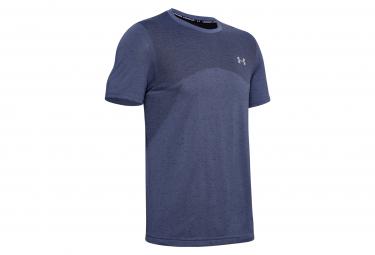 Under Armor Seamless Blue Mens Short Sleeve Jersey