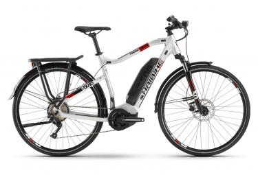 Bicicletta da turismo ibrida Haibike SDuro Trekking 2.0 Shimano Deore 10S 500 Wh 700 mm Grigio Rosso 2020