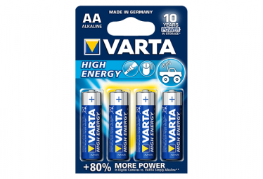 Image of Lot de 4 piles aa high energy varta