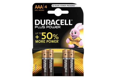 Image of Lot de 4 piles alcalines aaa lr03 duracell