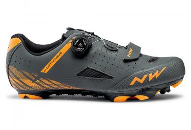 Northwave Origin Plus Anthrazit Grau / Orange MTB Schuhe