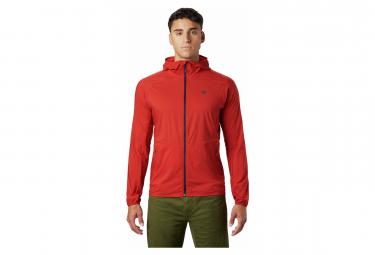 Veste coupe-vent déperlante Mountain Hardwear Kor Preshell Rouge Homme