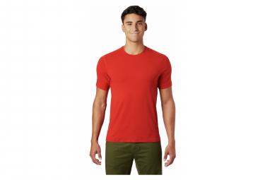 Mountain Hardwear Camiseta De Manga Corta Crater Lake Red Hombre L