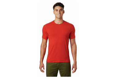 T-Shirt manches courtes Mountain Hardwear Crater Lake Rouge Homme