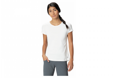 T-Shirt manches courtes Mountain Hardwear Mighty Stripe Blanc Femme