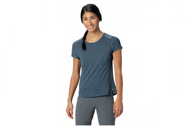 Mountain Hardwear Camiseta De Manga Corta Mighty Stripe Blue Mujer S