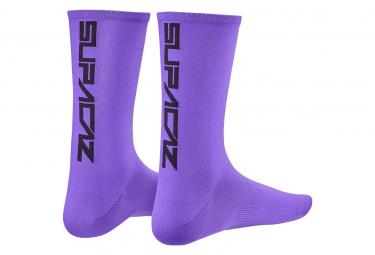 Par de calcetines supacaz supasox straight up sl neon purple 36 40