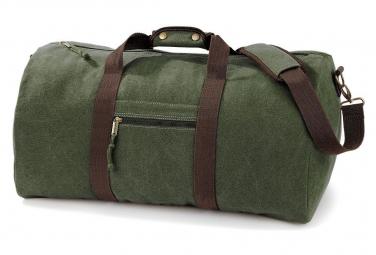 Quadra Sac de voyage toile look usé style vintage - vert militaire - QD613