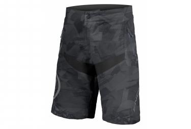 Short Para Ninos Con Piel Endura Mt500jr Camo Negro 7 8 Anos