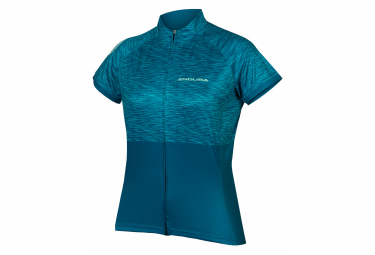Maillot Manches Courtes Femme Endura Hummvee Ray II Kingfisher