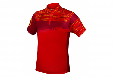 Endura Hummvee Ray II Kid's Short Sleeve Jersey Mandarin
