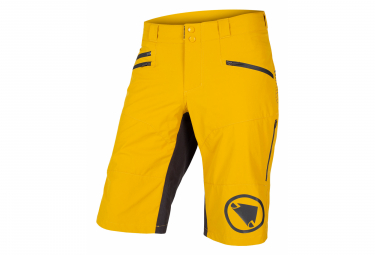 Endura SingleTrack II Senf Skinny Shorts