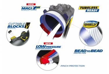 Pneu VTT Michelin DH Mud Racing Line 27.5'' Tubeless Ready Rigide DownHill Shield Pinch Protection Magi-X DH